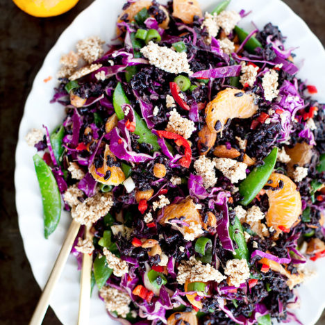 Orange and Almond Black Rice Salad | Loveleaf Co. | loveleafco.com