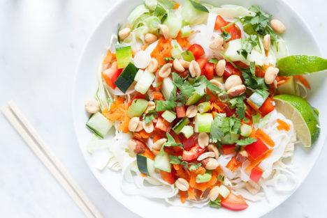 Peanut Noodle Salad | Gluten-free, Vegan. | Loveleaf Co.