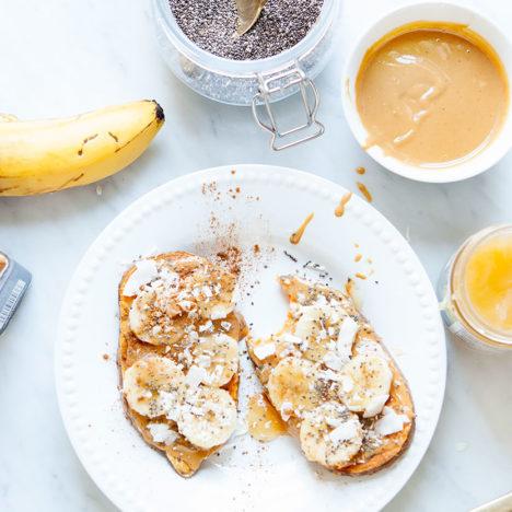Simple Sweet Potato Toast | Vegan and Gluten-Free | Loveleaf Co.
