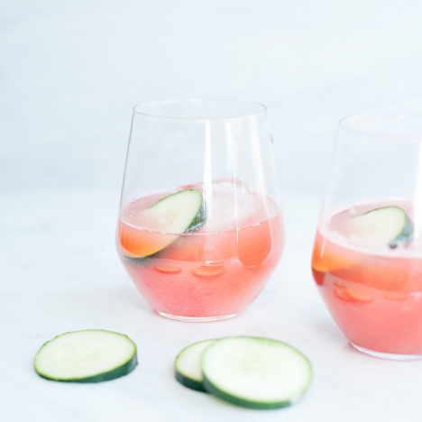 Watermelon Lime Cucumber Cooler | Healthy Cocktail | Loveleaf Co.