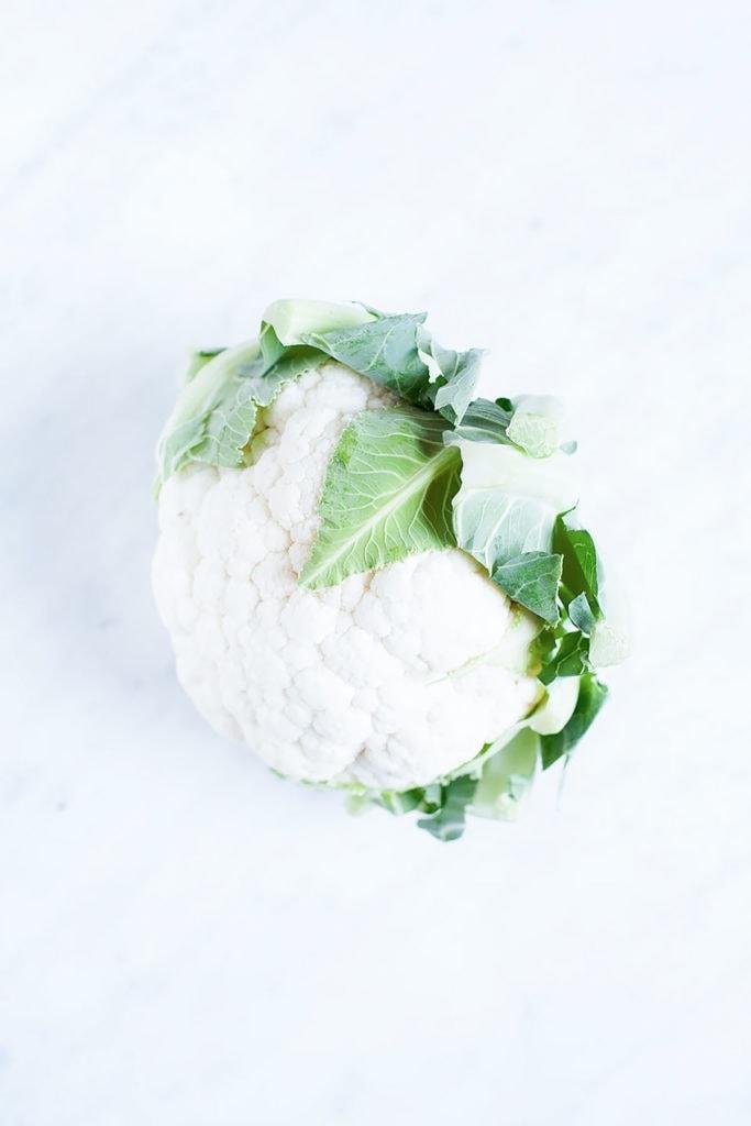 Cauliflower on white background.