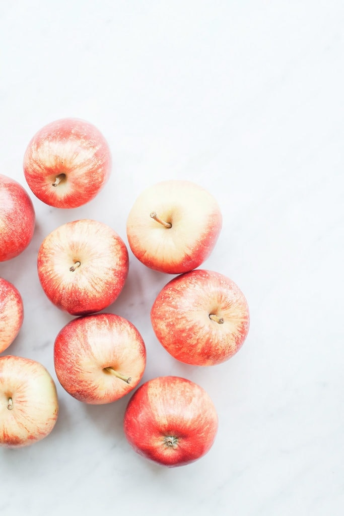 Apples on a white background.