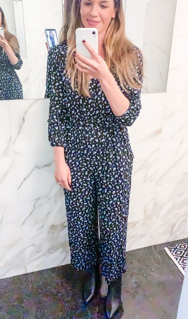 Ally Milligan, founder of Loveleaf Co. in Madewell jumpsuit.