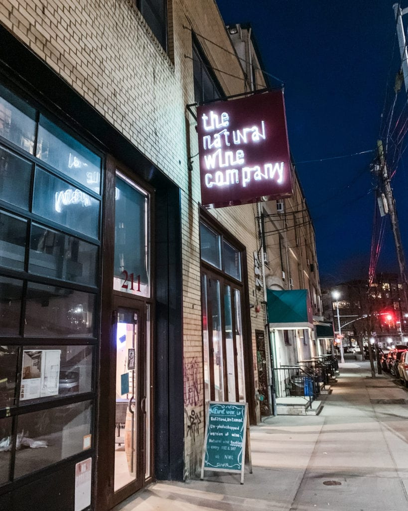 The Natural Wine Company in Brooklyn, New York.