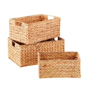 Pantry storage baskets.