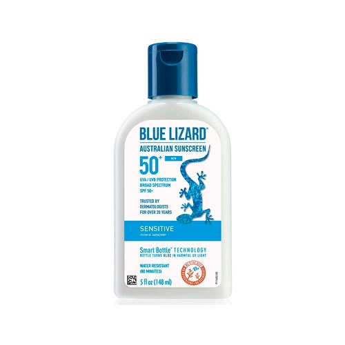 Blue Lizard sunscreen.